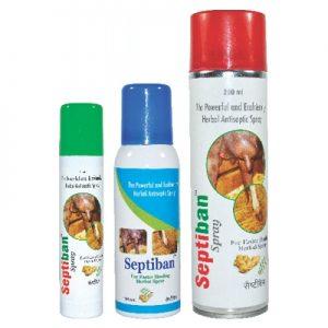 Septiban Spray-Powerful and Ecofriendly Herbal Antiseptic Spray