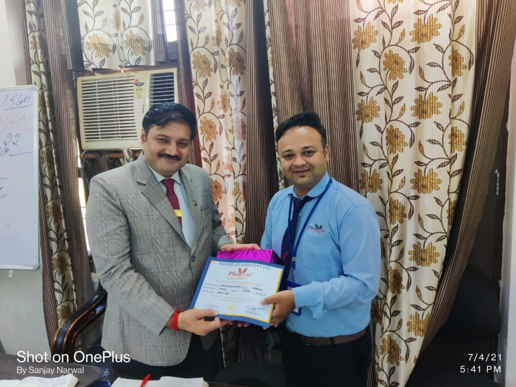 Shekhar Joshi - Achiever- Phoenix Life Science Pvt Ltd