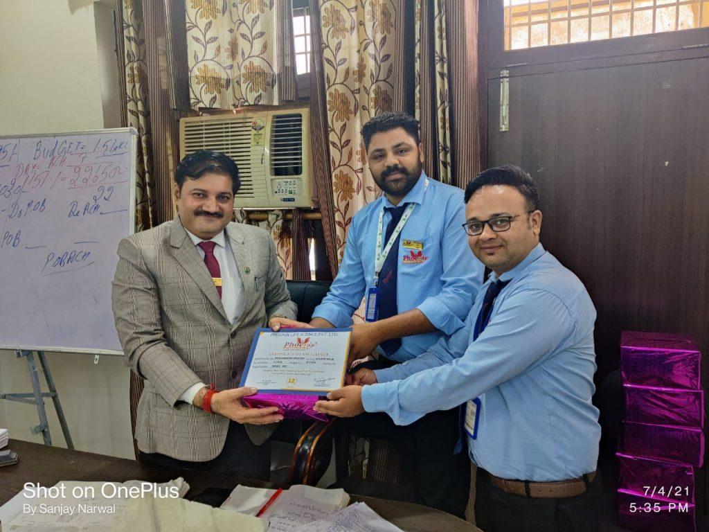 Sukhdeep Singh - barnala june month achiever