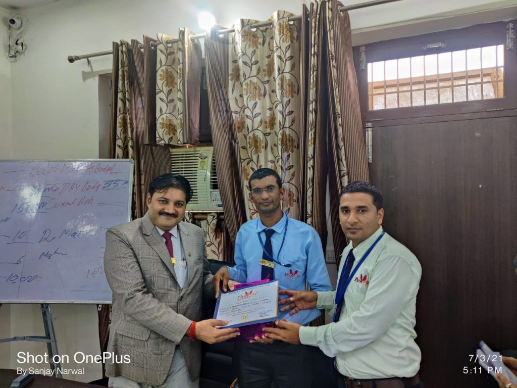 Suresh Kumar - Ajmer- June Month Achiever Phoenix Life Science Pvt Ltd