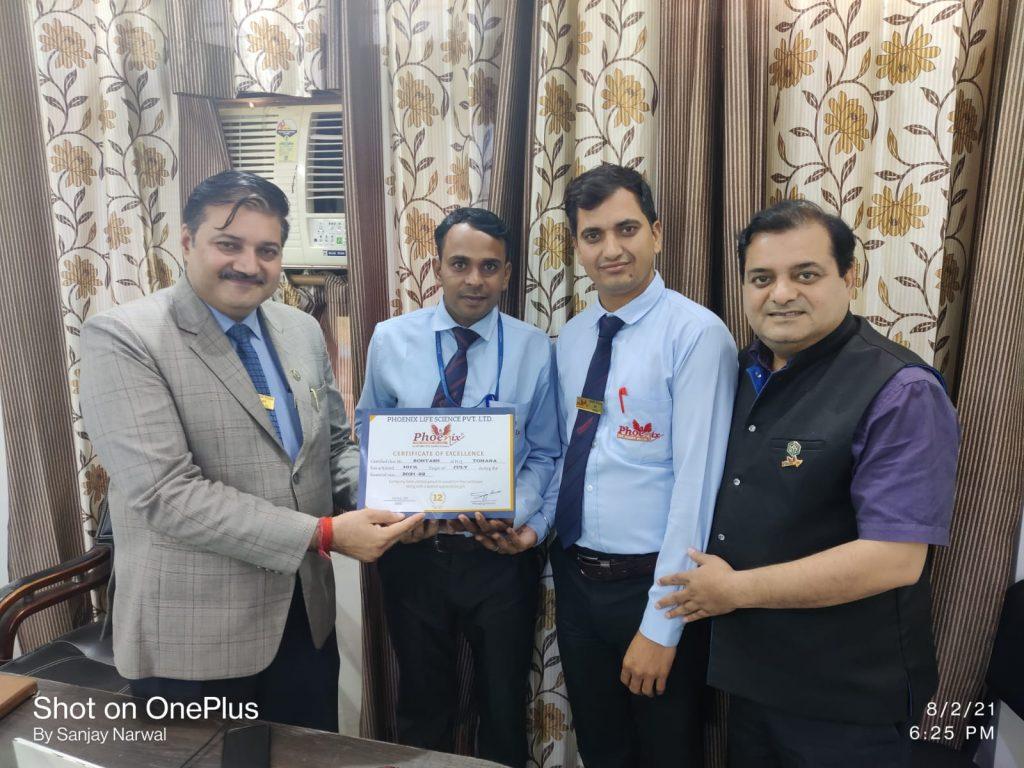 Rohtash - Tohana awarded by Dr. Shashi Shekhar Upadhyay and Dr. Sanjay Narwal