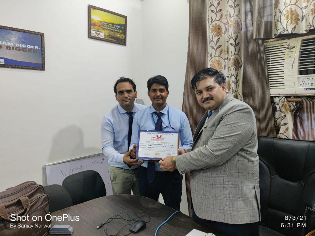 Sandeep Hisar achiever Of July Month - Phoenix - A veterinary medicine company