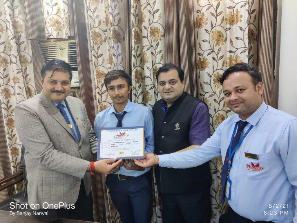 Sunny Singh achiever Phoenix Life science pvt ltd