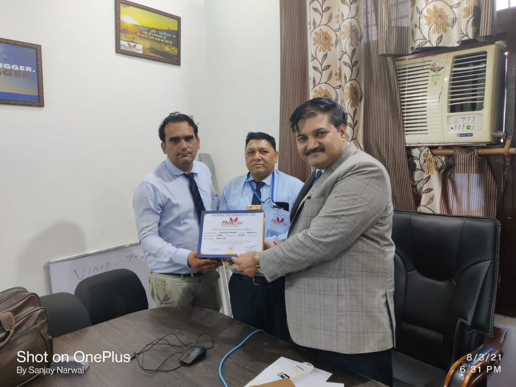baldev singh from Ambala achiever Top Performer July