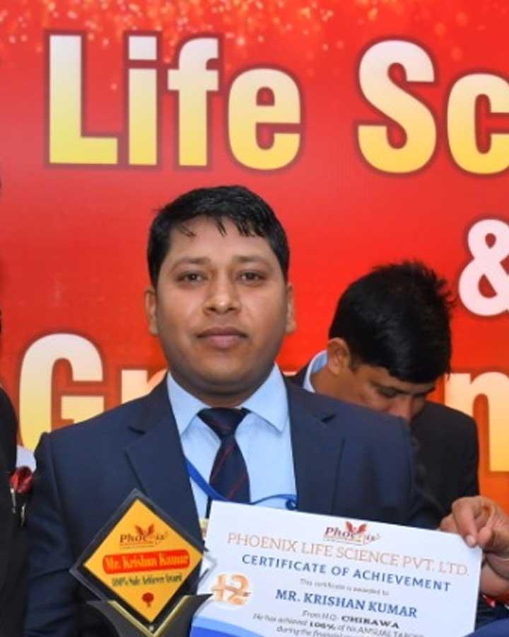 naresh kumar achiever phoenix life science pvt ltd - from chirawa