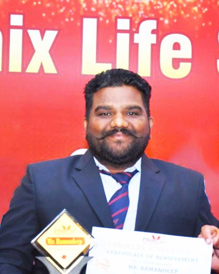 Ramandeep singh achiever phoenix life science pvt. ltd.